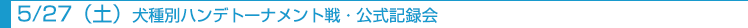 5月27日土曜日犬種別ハンデトーナメント戦・公式記録会