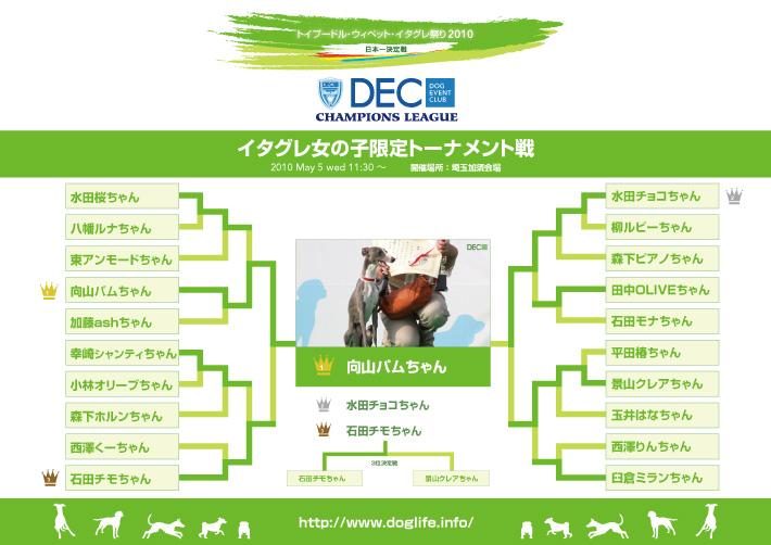 イタグレ女の子限定トーナメント表